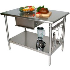 Kitchen Prep Cart Cabinet Organization Carts Islands Work Tables And Butcher Blocks With Stainless Steel