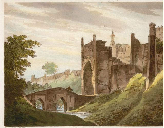 Painting of the Panoramic view of the fort kept in UK online art library