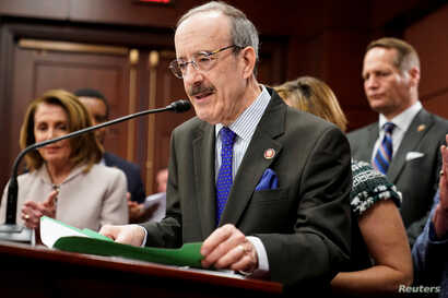 FILE - U.S. Representative Eliot Engel (D-NY) speaks on Capitol Hill in Washington, March 27, 2019.