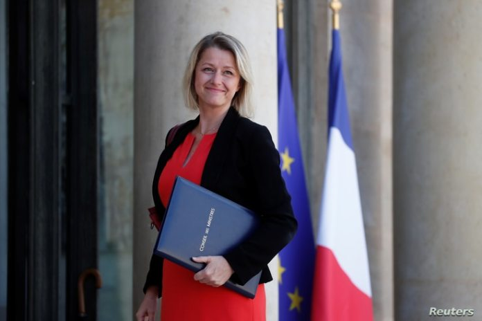 Barbara Pompili, newly appointed French Minister for the Ecological Transition, arrives to attend the weekly cabinet meeting in…