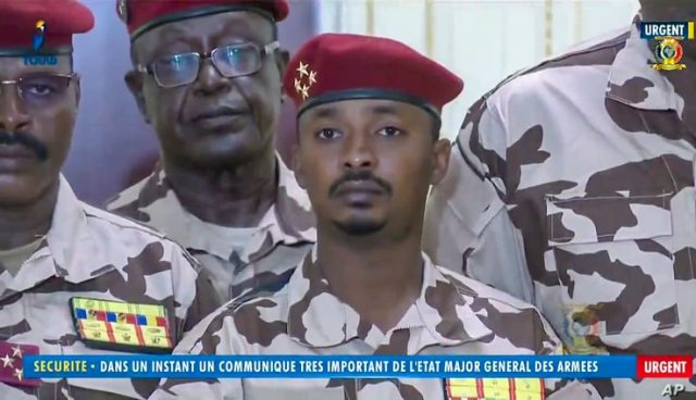 The military chief will be taken over by the son of Chad's assassinated president.