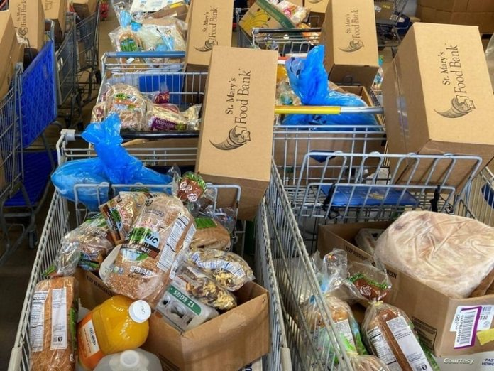 St. Mary's Food Bank in Phoenix, Arizona, established in 1967, is recognized as the world's first food bank.  The nonprofit distributes food to hundreds of partner agencies in Arizona that serve the hungry.