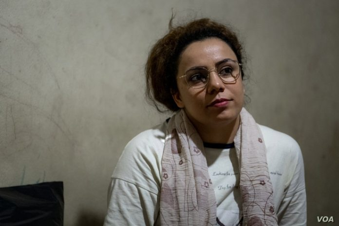 Lina Sadat, pictured August 10, 2021 in Van, Turkey, was a language teacher in Afghanistan before the Taliban took over their territory, prompting her to flee the country.  (VOA/Claire Thomas)
