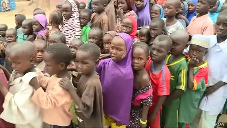 DDR officials say a majority of the 155 militants who arrived this week in Meri, Cameroon, July 29, 2021, are wives of the fighters and their children. (Moki Edwin Kindzeka/VOA)
