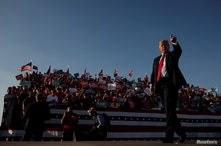 U.S. President Donald Trump attends campaign event at Tucson International Airport