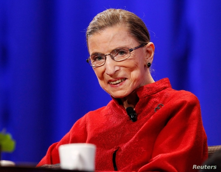 FILE PHOTO: Justice Ginsburg attends the lunch session of The Women's Conference in Long Beach