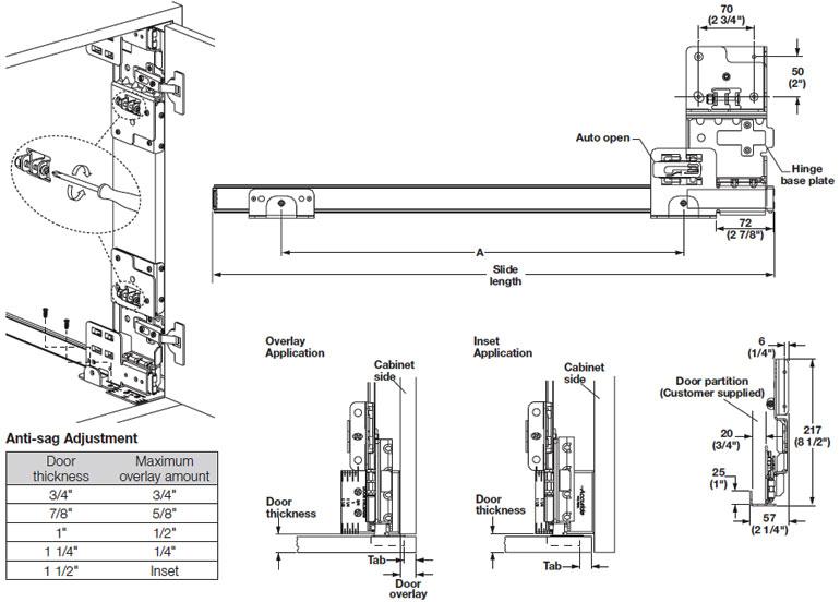 Accuride Pocket Door System, CB1321 Pro Pocket, Steel