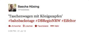 Tweet @Hobbbes Königszapfen