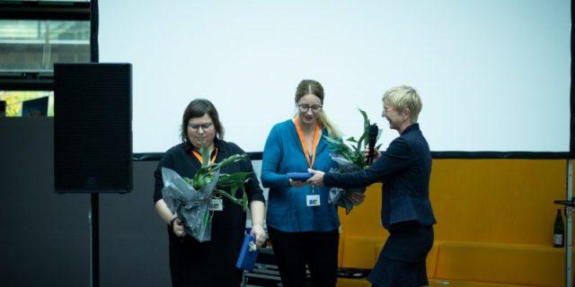 InfoInMotion2019: Silke Clausing, Prof. Monika Steinberg und Dr. Anke Wittich
