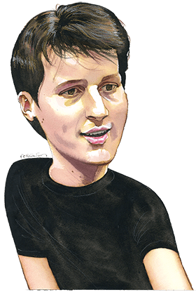 James Ferguson's illustration of Pavel Durov