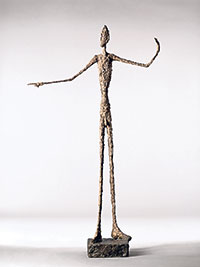 'L'homme au doigt' (1947) by Alberto Giacometti