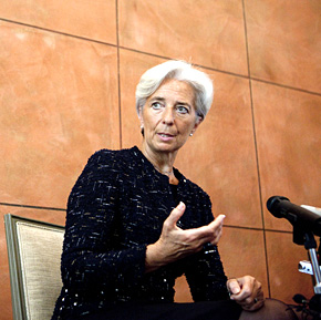Helping hand: Christine Lagarde, IMF managing director, offered Italy an €80bn line of credit