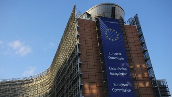 BRUSSELS, BELGIUM - FEBRUARY 19: A general view of the European Union Commission headquarters during the second day of the EU Summit as British Prime Minister David Cameron continues his attempts to negotiate new membership terms for the UK, on February 19, 2016 in Brussels, Belgium. Most of Europe's 28 member state leaders have gathered in Brussels to take part in a crucial summit and vote on British Prime Minister David Cameron's pledge to renegotiate the terms of Britain's membership in the EU, namely proposals to limit benefits for migrant workers. A referendum on whether Great Britain will stay in or leave the European Union is to be held before the end of 2017, though many expect it to take place in June this year. (Photo by Dan Kitwood/Getty Images)