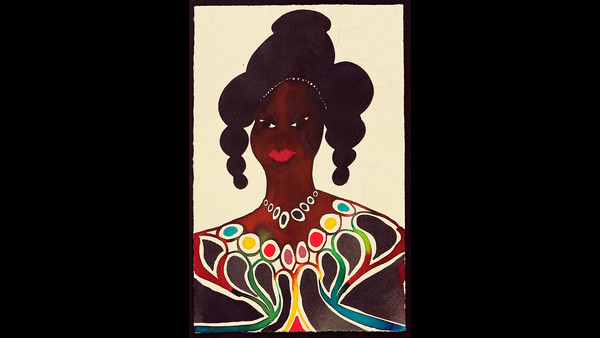 'Untitled (Afromuse)' (1995–2005). Watercolour and pencil on paper
