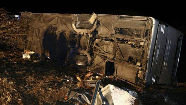 Ankara yolcu otobüsü kaza