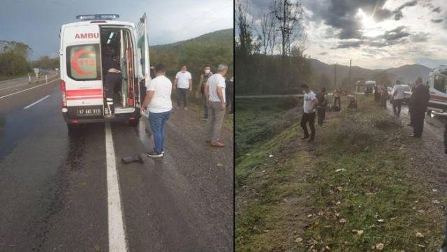 Bisiklet sürücüsü Metin Güner'den geriye çizmeleri kaldı.