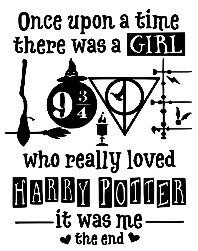 Download Once there was a girl who really loved harry potter svg | Etsy