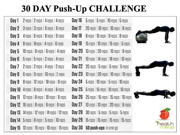 30 Days Push Up Challenge Diet Fitness Indiatimescom