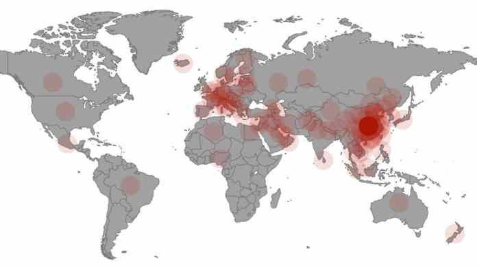 Coronavirus 2020 in China and the world