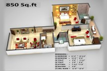850 Sq FT Floor Plans for Home