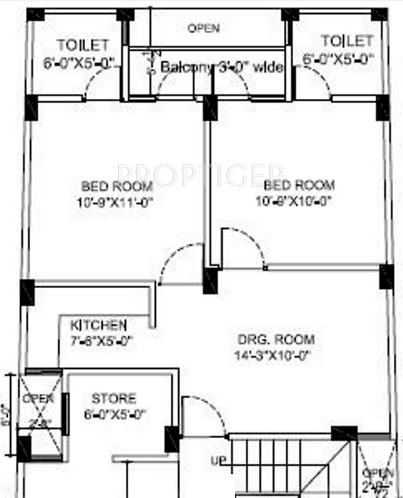 650 Sq Ft 2 Bhk Floor Plan Image  Jm Constructions