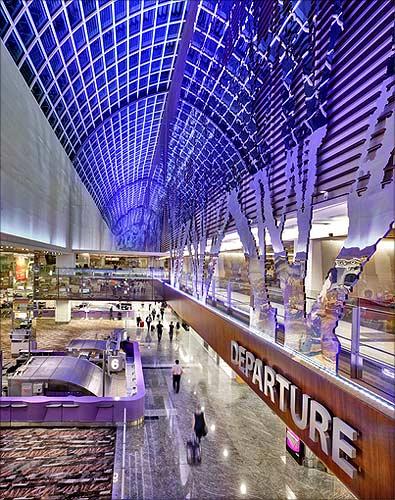 Terminal 1, departure hal.