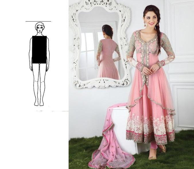 Buy Soft Pink Jacket Style Long Anarkali Salwar Kameez