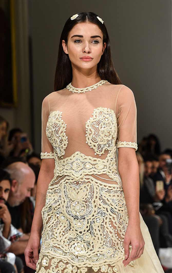 Would you wear this nude dress to your wedding  Rediff
