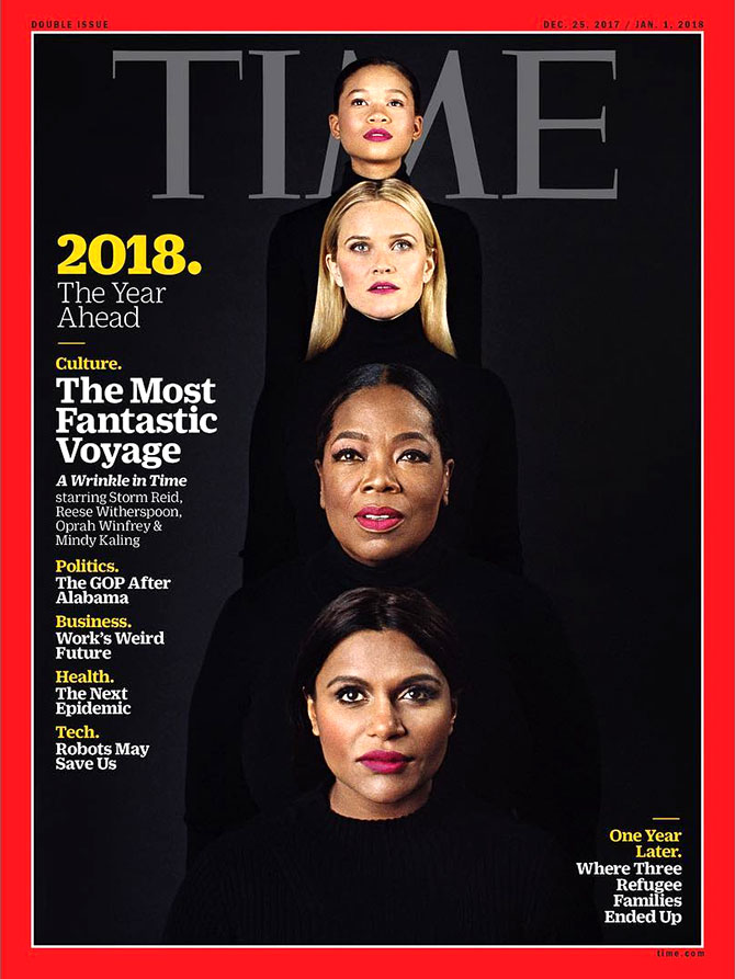 The story behind Mindy Kalings TIME cover with Oprah  Reese  Rediffcom Get Ahead