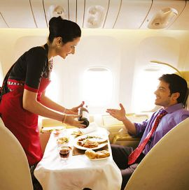 Air India flyers to taste and then order food of their