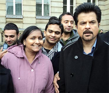 Anil Kapoor filming in Victoria Square