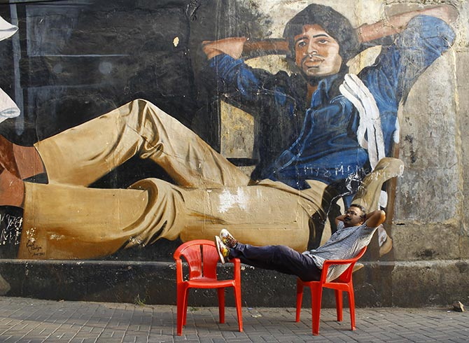 Image result for amitabh mural
