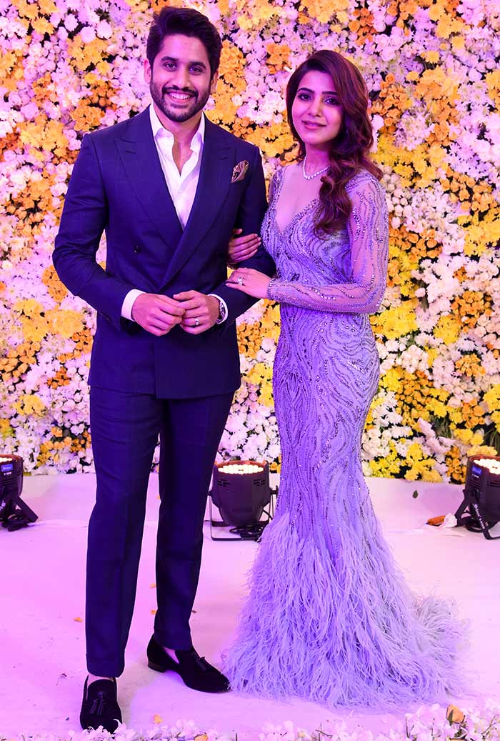 PIX Naga Chaitanya Samanthas Grand Reception Rediff
