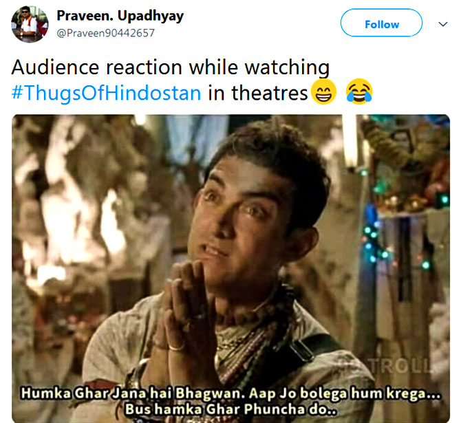 The Funniest Thugs Of Hindostan Memes  Rediffcom Movies