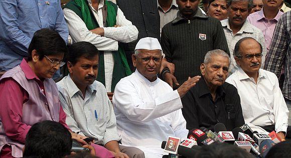 Image result for anna hazare 2011