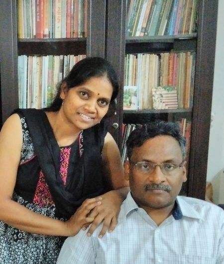 Prof G N Saibaba with his wife