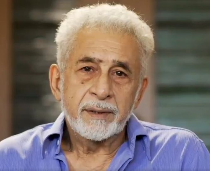 Walls of hatred erected in name of religion: Naseeruddin Shah - Rediff.com India News