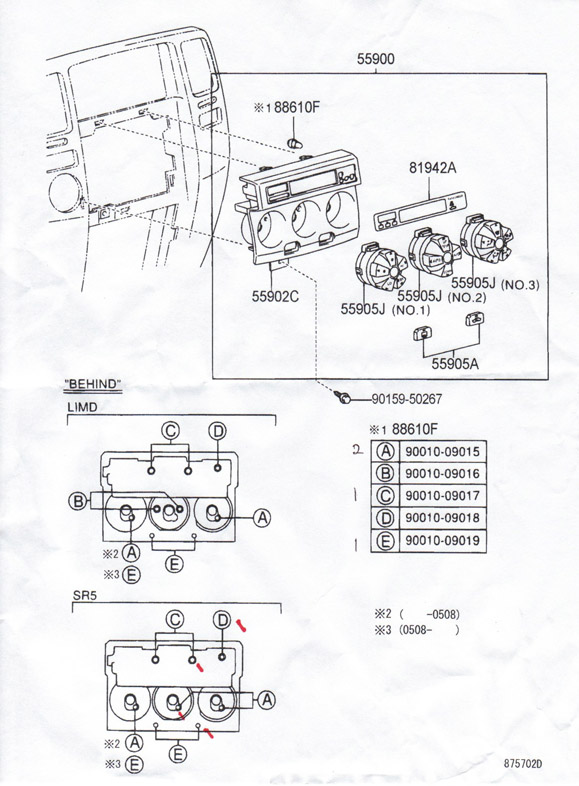2004 Toyota 4runner Center Console Parts Diagram • Wiring