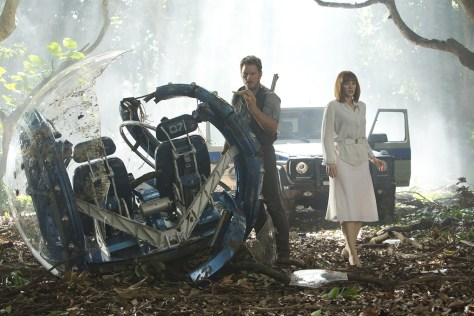 De ijzersterke Chris Pratt & Bryce Dallas Howard in Jurassic World