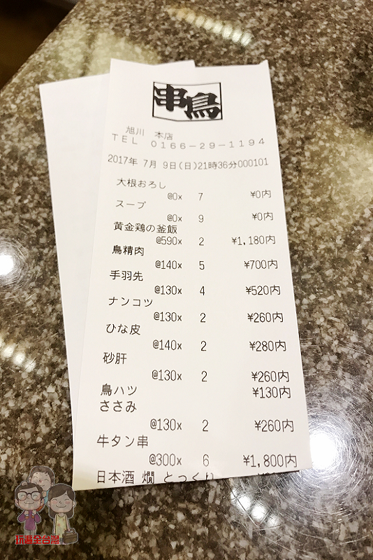 串鳥旭川本店|串串都美味,全家歡樂大啖燒鳥串燒