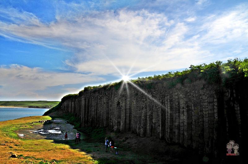 旅行菊島|澎湖北環景點.大菓葉柱狀節理玄武岩