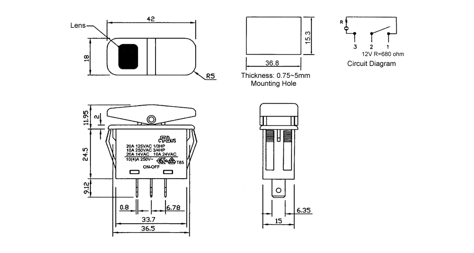Spst Illuminated Rocker Switch Wiring Diagram For Your Needs