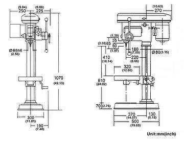Taiwan Bench Drilling Press Machine Various Speed Manual