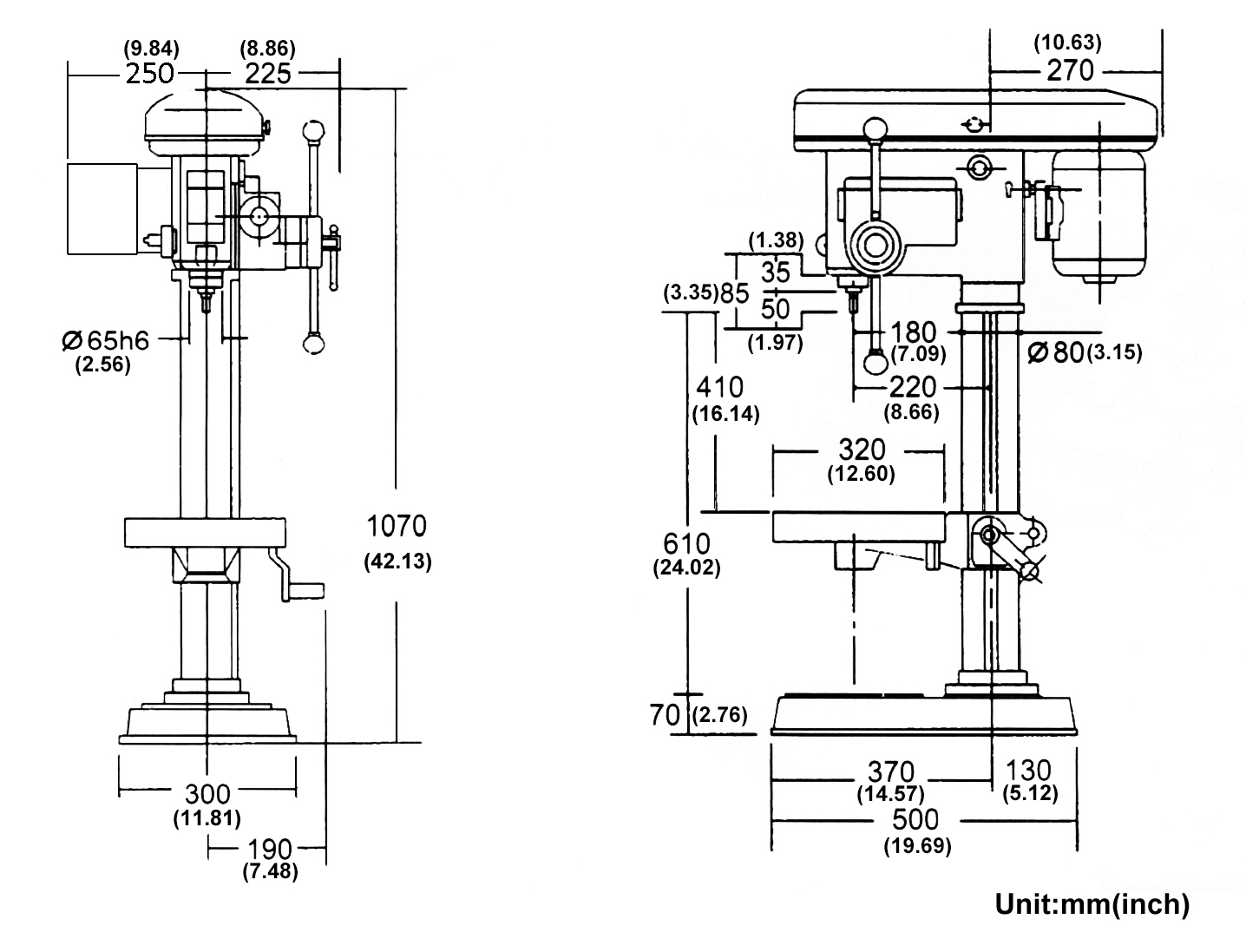Taiwan Bench Drilling Press Machine: Manual HD-14I