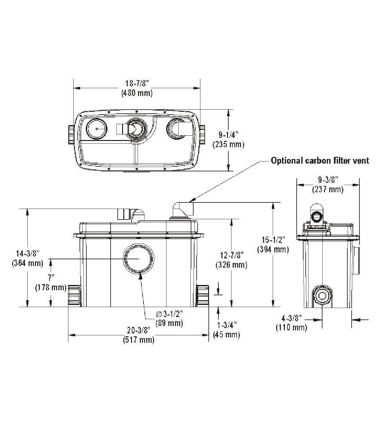 Taiwan Grinder Pump System Qwik Jon Ultima 202