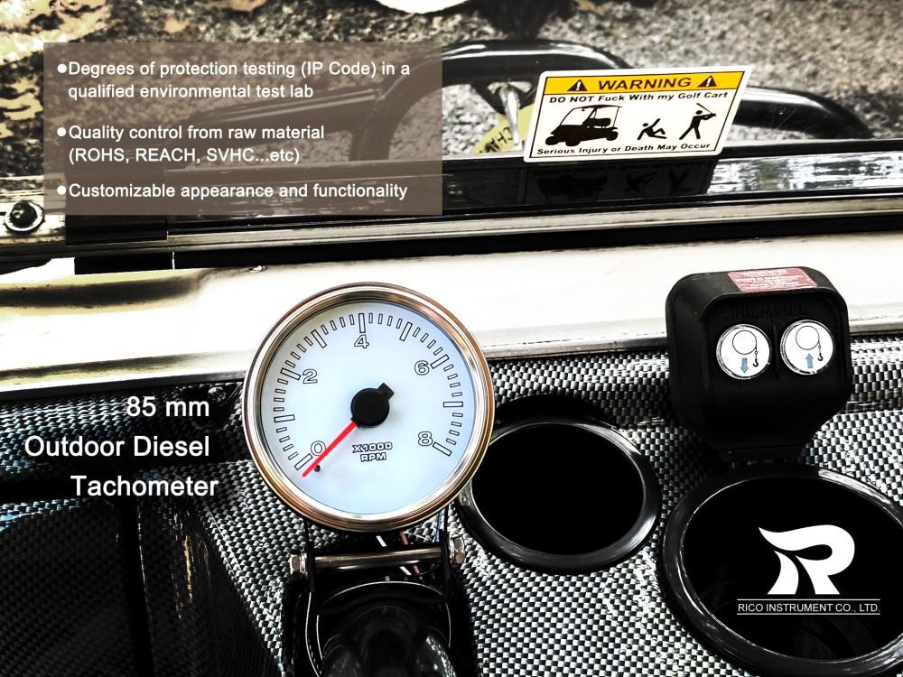 medium resolution of marine tachometer 85mm boat gauge 0 to 8000 rpm