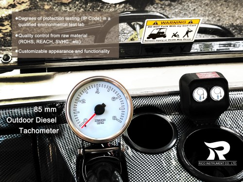 small resolution of marine tachometer 85mm boat gauge 0 to 8000 rpm