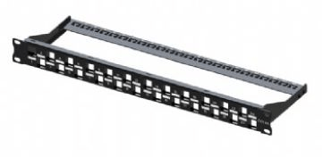 Cat6A UTP Configuration Patch Panel, Staggered Type