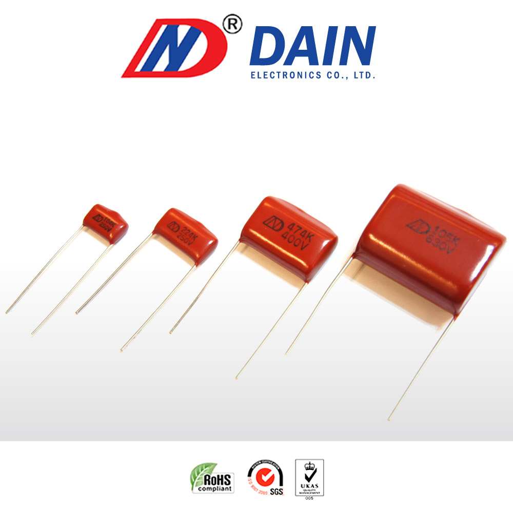 medium resolution of taiwan metallized polyester film capacitor 103k 630v pitch 10mm dain electronics co ltd
