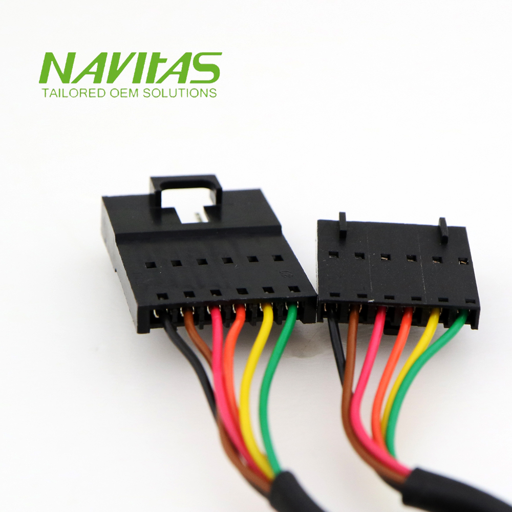 hight resolution of molex 6pin 2 54mm male to female connector custom wiring harness assembly